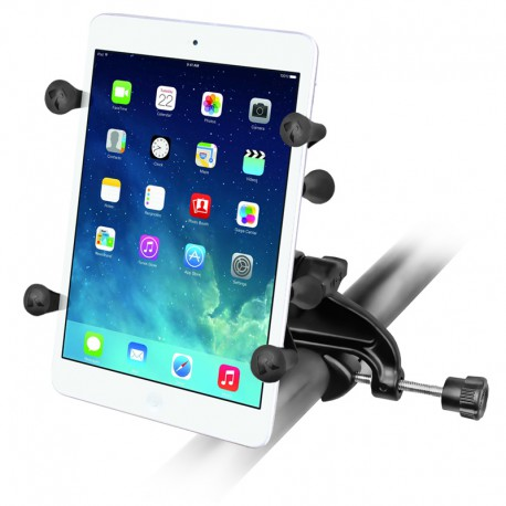 "RAM Yoke Clamp Mount with Universal X-Grip® Cradle with 1"" Ball for 7"" Tablets"