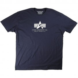 Alpha Logo Tee - Navy Blue
