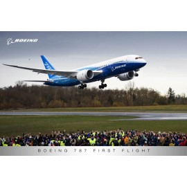 787 First Flight Poster