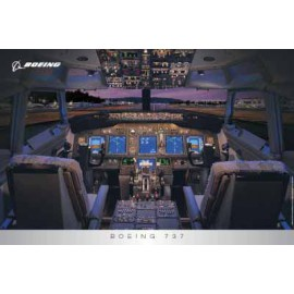 737 Flight Deck Poster