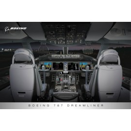 787 Flight Deck Poster