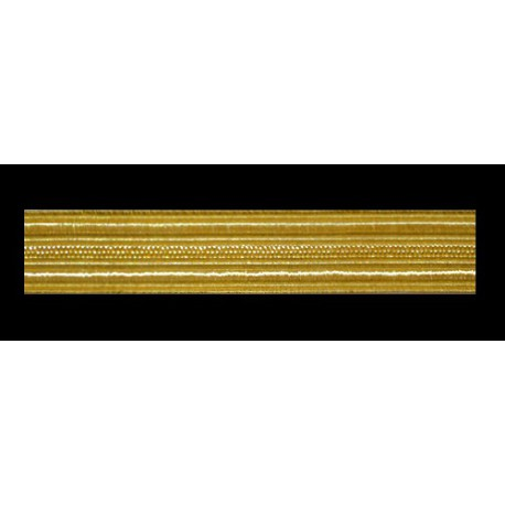 Zlatá stuha na uniformy (metráž) -1m