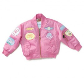Girls Nylon Flight Jacket