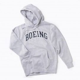 Varsity Pullover Hooded Sweatshirt (Boeing) -navy blue